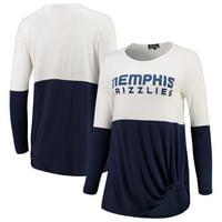 Memphis Grizzlies Women's In It To Win It Colorblock Long Sleeve T-Shirt - Navy