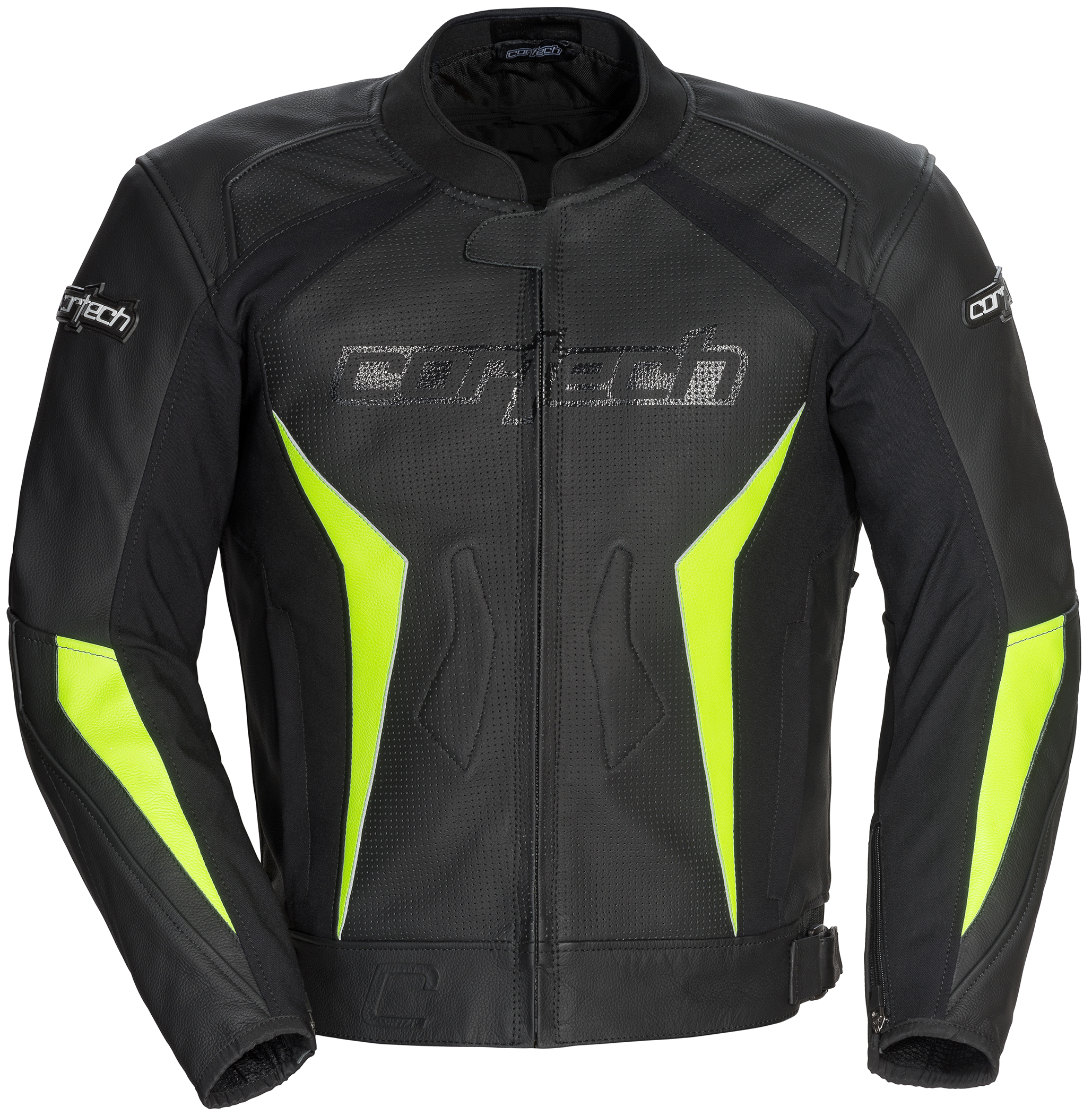 Cortech Latigo 2 Leather Jacket Black/Hi Viz SML  8992-0213-04