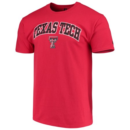 Men's Russell Red Texas Tech Red Raiders Crew Core Print T-Shirt - Texas Tech 2017 Halloween