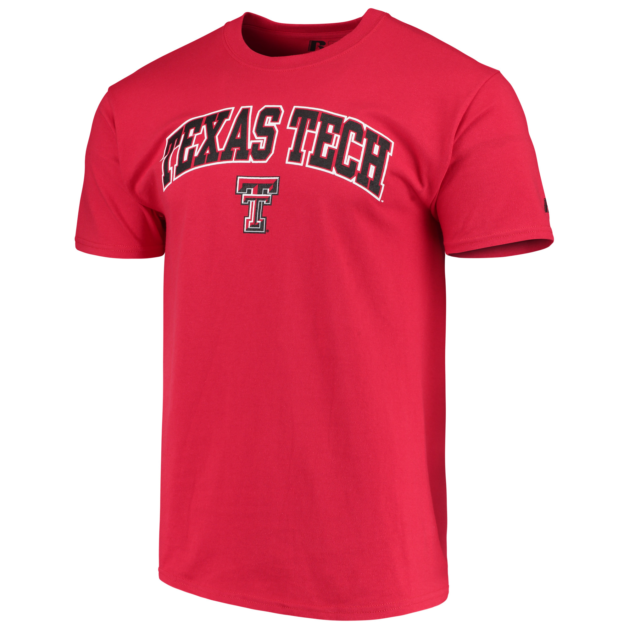 Men's Russell Red Texas Tech Red Raiders Crew Core Print T-Shirt
