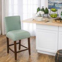 "HomePop Upholstered 24"" Barstool Seafoam counter height"