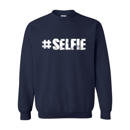 selfie match w selfie stick selfie drone selfie light birthday gift men 39 s crewneck sweatshirt. Black Bedroom Furniture Sets. Home Design Ideas