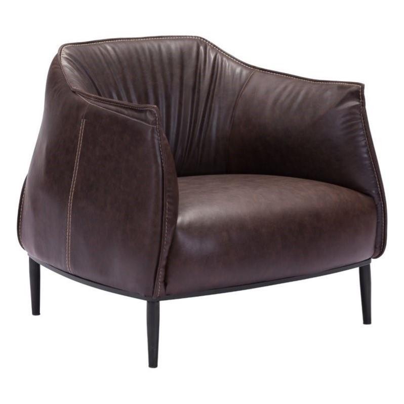 Zuo Julian Faux Leather Chair in Espresso