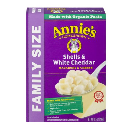 Annies Family Size Macaroni And Cheese  Shells   White Cheddar Mac And Cheese  10 5 Oz Box