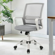 Smugdesk Office Chair, Mesh Desk Chair Computer Swivel Chair with Lumbar Support Armrest High Back , Grey