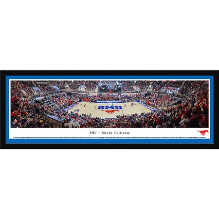 Smu Mustangs Basketball   Blakeway Panoramas Ncaa College Print With Select Frame And Single Mat