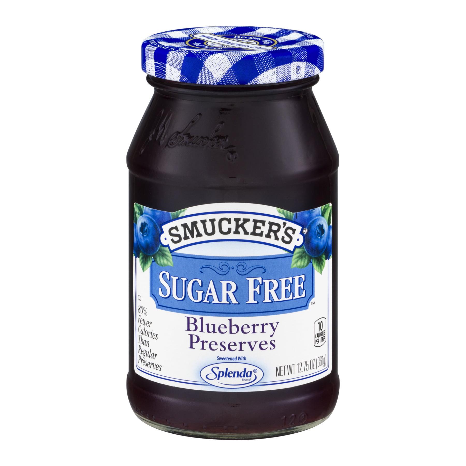 Smucker's: Blueberry Sugar Free Preserves, 12.75 oz