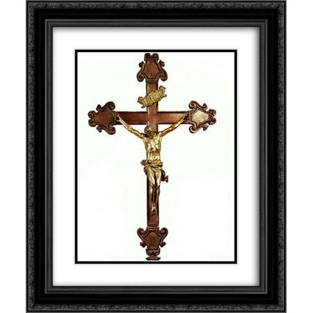 - Gian Lorenzo Bernini 2x Matted 20x24 Black Ornate Framed Art Print 'Altar Cross'