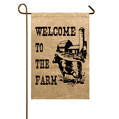 TheWatsonShop Welcome to the Farm Garden Flag