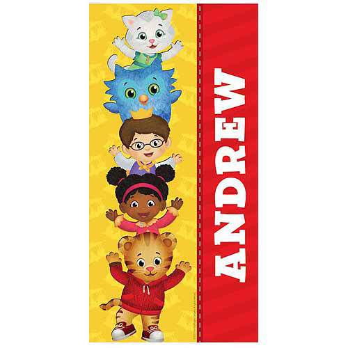 Personalized Daniel Tiger's Neighborhood Friends Microfiber Beach Towel