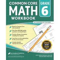 6th grade Math Workbook: CommonCore Math Workbook (Paperback)
