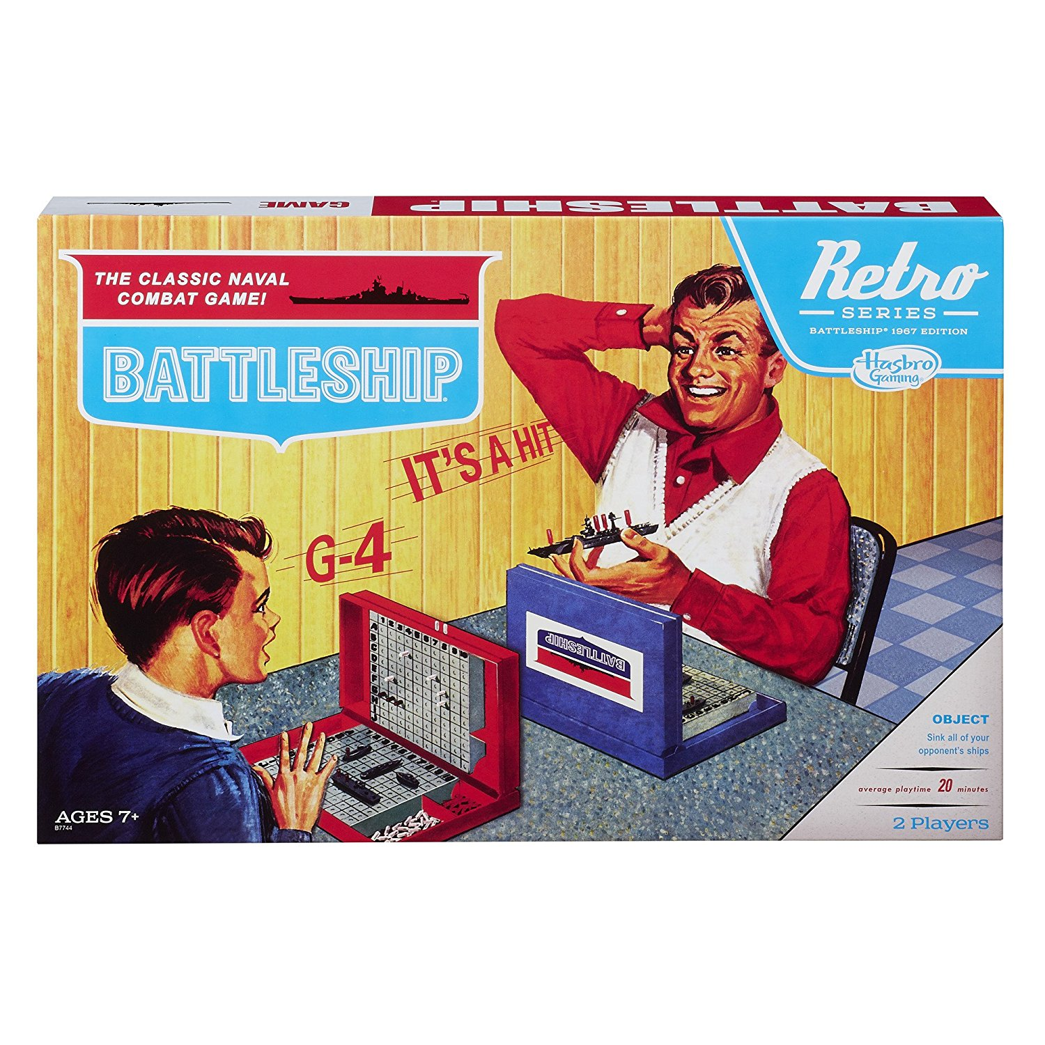 Battleship Game Retro Series 1967 Edition, Retro 1967 edition By Hasbro by
