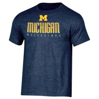 f1143e7e00 Product Image Men s Russell Navy Michigan Wolverines Basic Logo Crew Neck T- Shirt