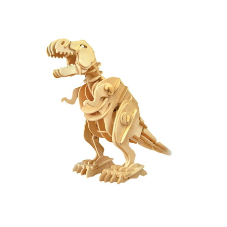 Dinoroid Robotic T-Rex Wood Craft Kit - Mess Free Dinosaur Model Building Set](Wood Building Kits)