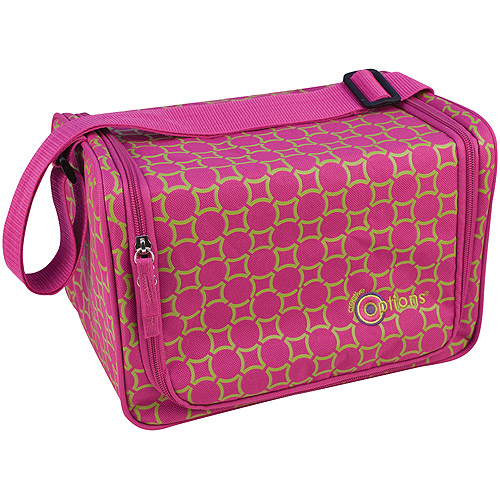"Creative Options Stow 'n' Go Shoulder Tote, 12"" x 8.25"" x 8.25"", Magenta/Green/Maze"