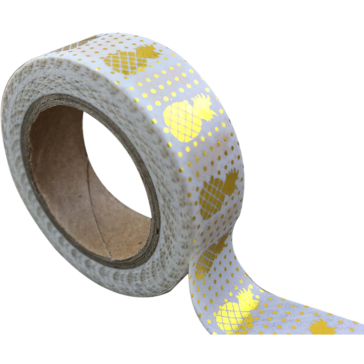 Love My Tapes Foil Washi Tape 15Mmx10m-Gold Pineapple W/ Dots