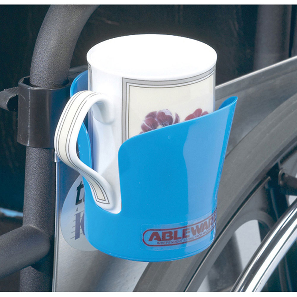 Ableware Bag of Three Wheelchair Cup Holder