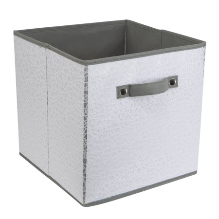 Simplify Embossed Nest Storage Cube in White ()