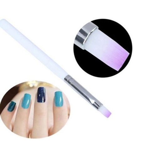 Manicure Pen Flat Mouth Light Therapy Pen Purple Hair Gel Pen Nail Art UV Gel Art Brush Manicure Tool - image 2 of 6