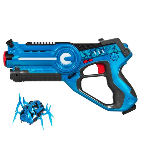 Best Choice Products Kids Infrared Laser Tag Blaster Gun Toy Set w/ Robot Bug, 4 Modes, Multiplayer Mode, Life Tracker - - Laser Gun Equipment