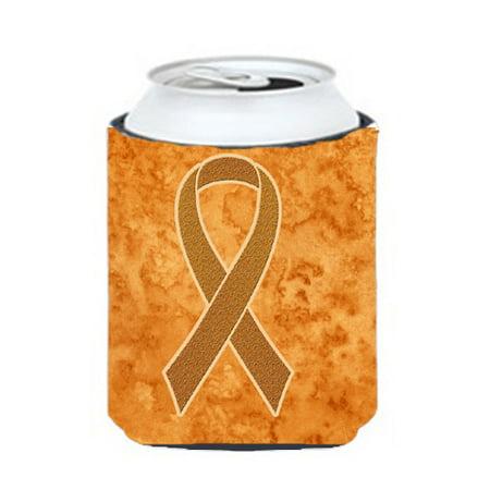 Orange Ribbon for Leukemia Awareness Can or Bottle Hugger AN1204CC