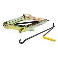 Bronze Tone 1 Ton Capacity Metal Crank Speed Handle Wind Up Scissor Jack Lift for Car Van