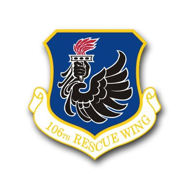 8 Inch Air Force 106th Rescue Wing Vinyl Transfer - Air Force Wing Decal