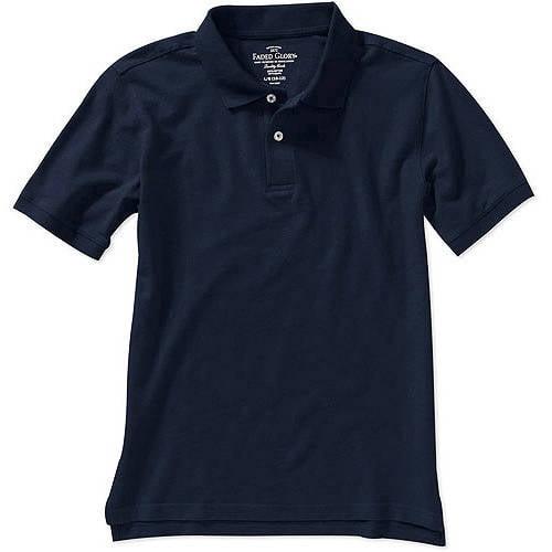 Husky Boys' Solid Short Sleeve Polo Shirt