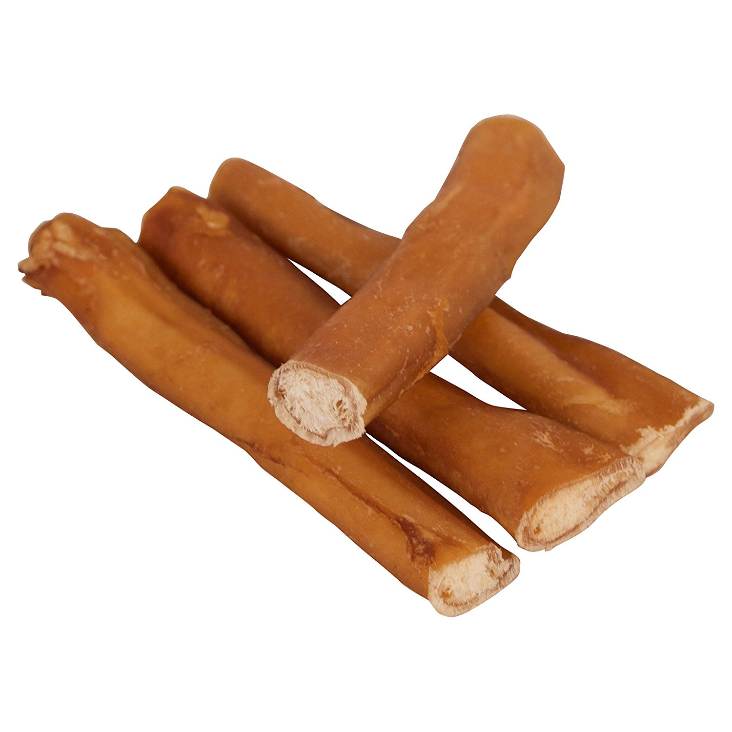 "5"" Straight Bully Sticks for Dogs [Medium Thickness] (100 Pack) - Natural Low Odor Bulk Dog Dental Treats, Best Thick Pizzle Chew Stix, 5 inch, Chemical Free"