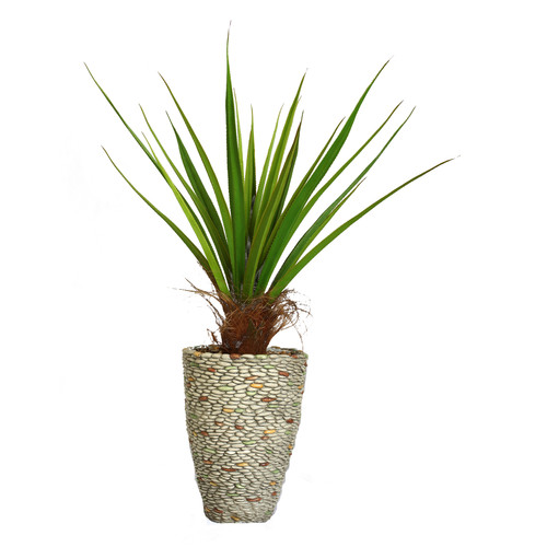 Bungalow Rose Tall Agave Floor Plant In Fiberstone Pot Walmart Com