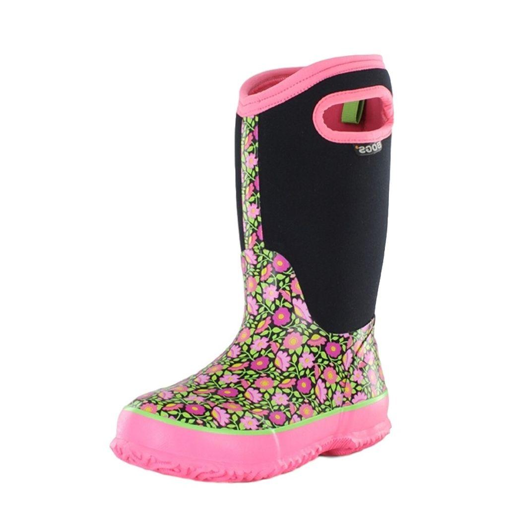 "Bogs Boots Girls Kids 10"" Sweet Pea Insulated Rubber Waterproof 71438 by Bogs"