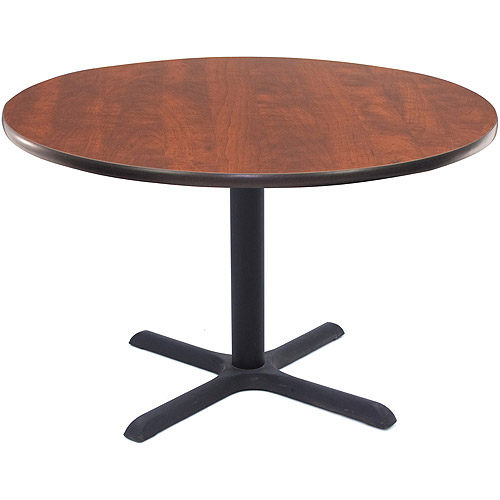 "Regency 42"" Round Lunchroom Table with Metal ""X"" Base"