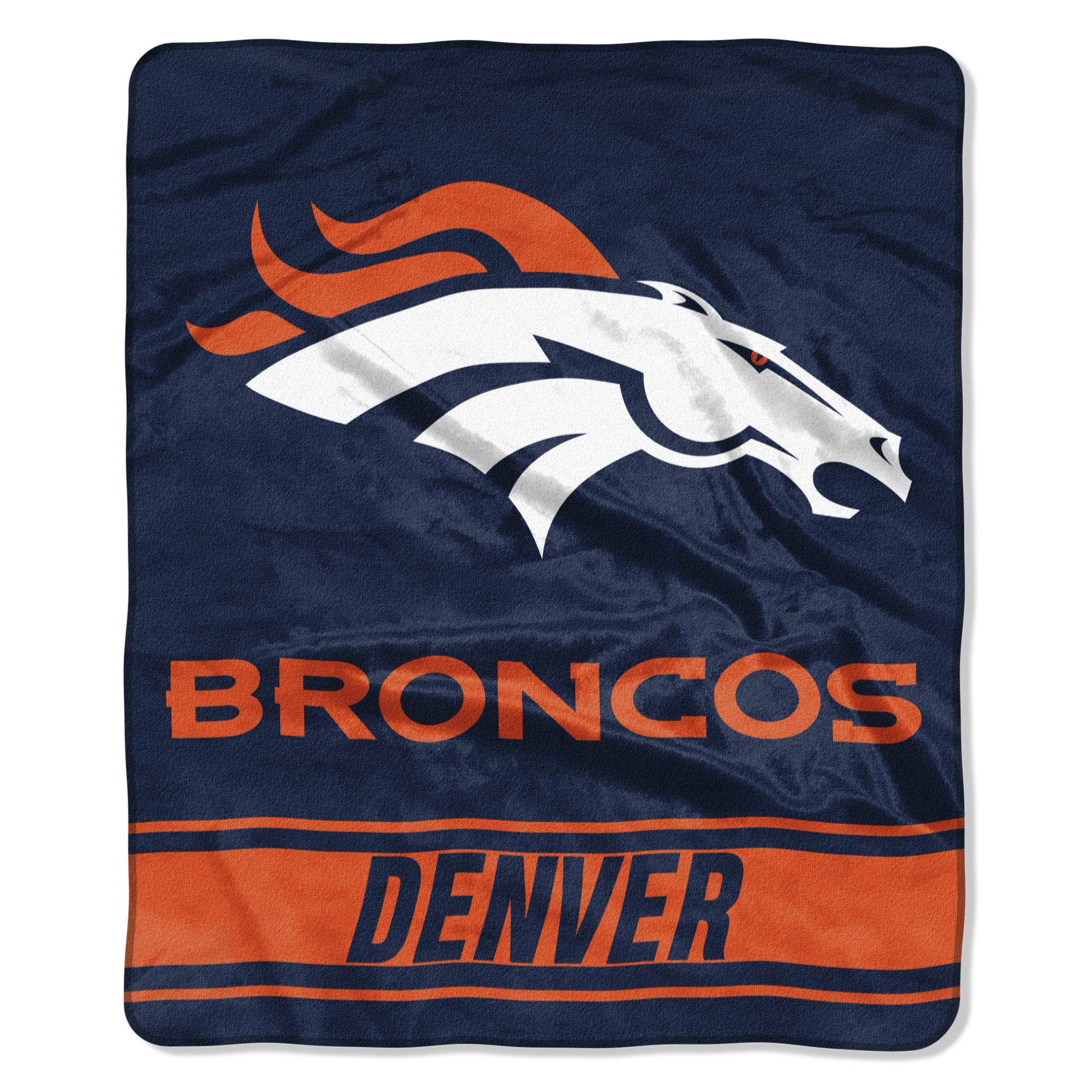"Denver Broncos The Northwest Company 50"" x 60"" Stabilize Raschel Plush Throw Blanket - No Size"