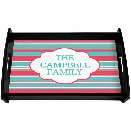 Personalized Summer Stripes Serving Tray, Available in 2 Colors