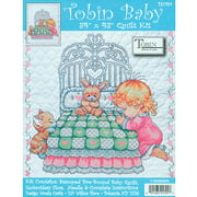 Tobin Bedtime Prayer Boy Quilt Stamped Cross Stitch Kit