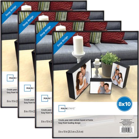 Mainstays 8x10 Deep Format Picture Frame, Set of 4