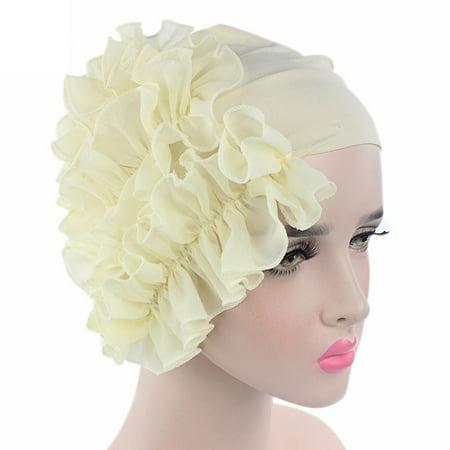 Women Flower Cancer Chemo Hat Beanie Scarf Turban Head Wrap Cap Headband BG