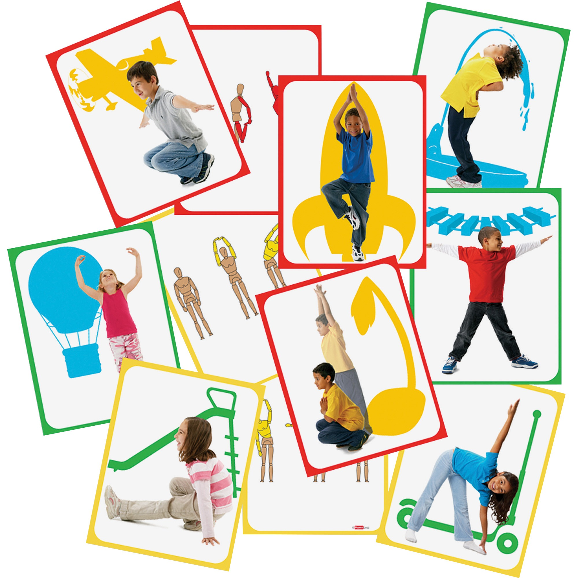 Roylco, RYLR62011, Body Poetry Student Yoga Cards, 16 / Pack