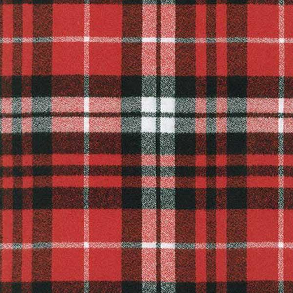 Robert Kaufman Fabrics Mammoth Woven Cotton Flannel Red Black Plaid