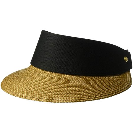Eric Javits Women's 13101 Headwear Hat - Champ Visor Natural/Black