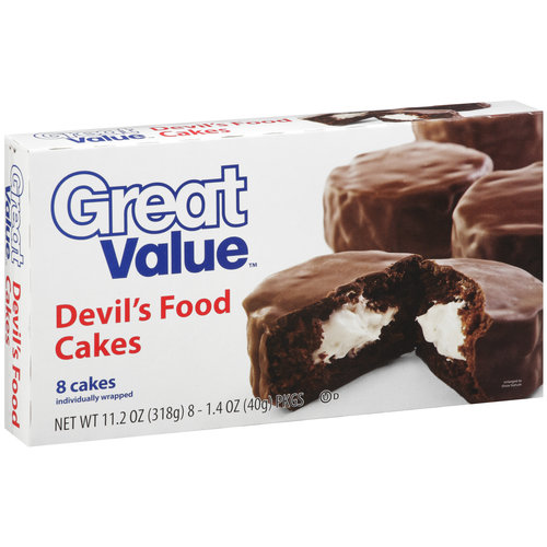 Great Value Devil's Food Cakes, 8ct