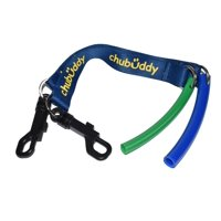 """Strong Tube Twin Pack Regular 1/2"""" Blue and Slim 3/8"""" Green on Navy Clip On Tether"""