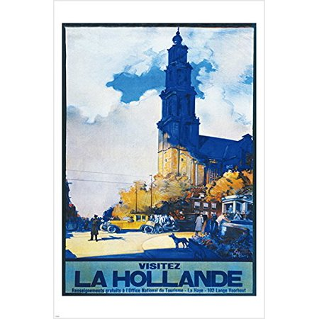Visit Holland Vintage French Travel Poster 24X36 Picturesque Autumn