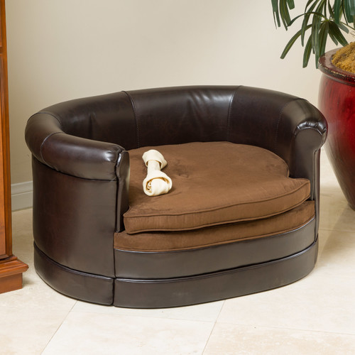 Home Loft Concepts Dofferville Oval Cushy Dog Sofa