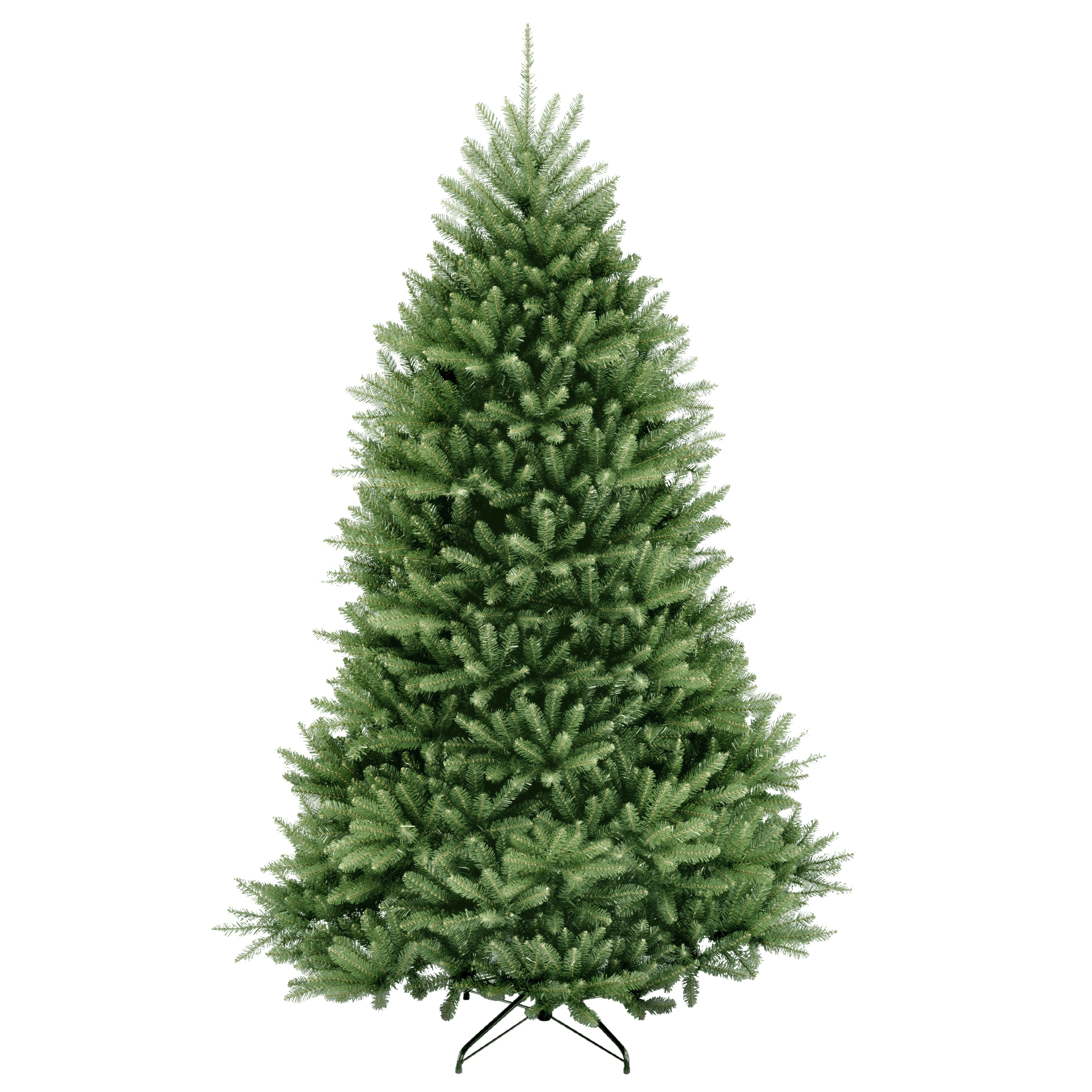 National Tree 7.5 Foot Artificial Dunhill Fir Hinged Christmas Tree and Stand