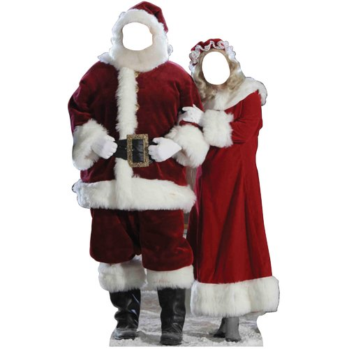 Advanced Graphics Christmas Santa & Mrs. Claus Stand-in Cardboard Stand-Up
