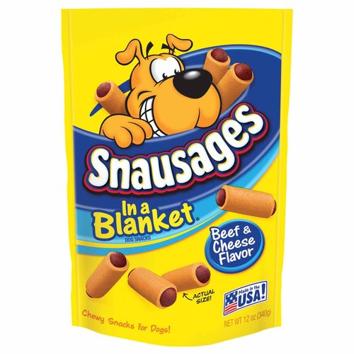 Snausages In a Blanket Beef & Cheese Flavor Dog Snacks, 12-Ounce