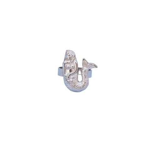 Chrome Mermaid Napkin Ring 2