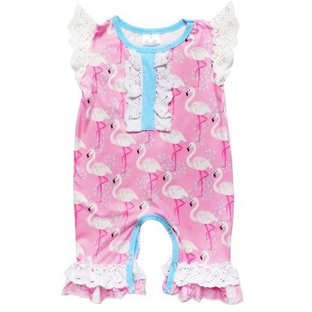 9fae4a9495ba So Sydney - So Sydney Girls Toddler Or Baby Tank Lace Romper - Walmart.com