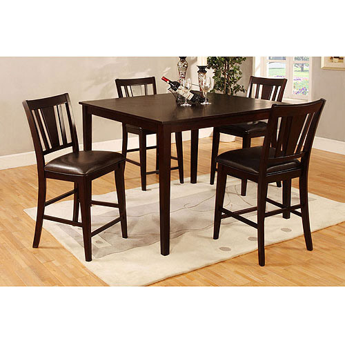 Venetian Worldwide Bridgette I 5-Piece Dining Set, Espresso